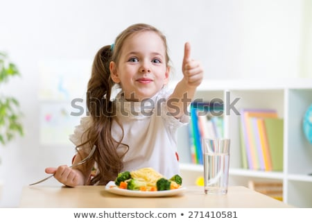 Kid Girl Vitamin Food Stock photo © lenm
