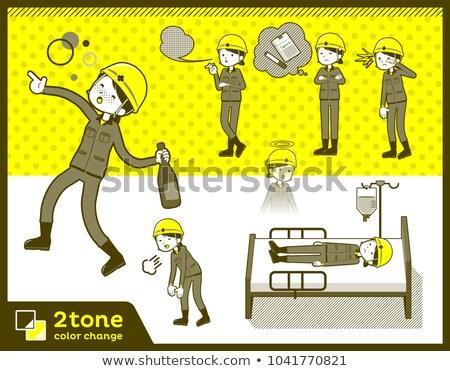 2tone type helmet construction worker woman_set 10 Stock photo © toyotoyo