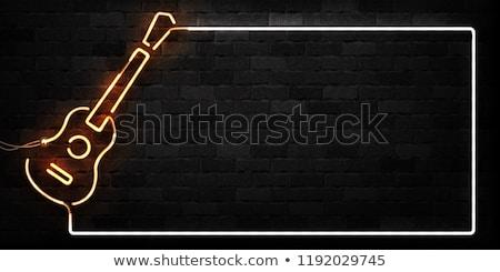 Neonreclame muur live muziek achtergrond teken Stockfoto © Zerbor