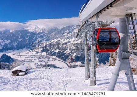Ski ascenseur illustration fille nature couple Photo stock © adrenalina