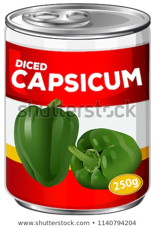 Can of diced capsicum Stock photo © bluering