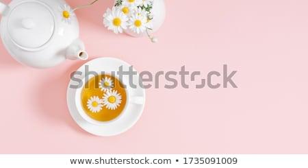 copo · chá · mel · flores · velho - foto stock © dash