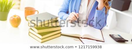 пер · проверка · книга · калькулятор · календаря · фото - Сток-фото © traimak