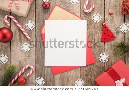 carta · pergamino · Navidad · almacenamiento · rojo - foto stock © marilyna