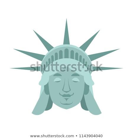 статуя свободы спальный ориентир лице спящий Сток-фото © popaukropa
