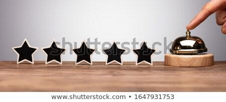 Pessoa serviço sino cinco estrela ícone Foto stock © AndreyPopov