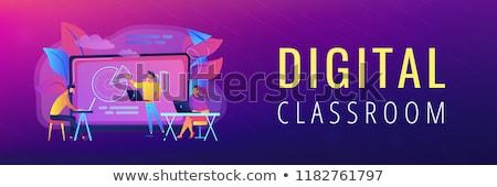 distanza · apprendimento · banner · professore · classifiche - foto d'archivio © rastudio
