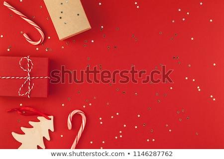 ajándék · ünnepi · karácsony · papír · fából · készült · friss - stock fotó © TanaCh
