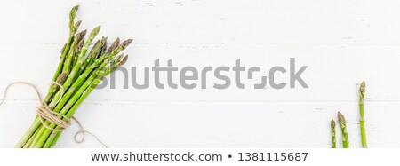 taze · kuşkonmaz · beyaz · ahşap · masa · üst · görmek - stok fotoğraf © dash