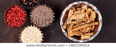 különböző · kicsi · tál · granola · fekete · nyers - stock fotó © Illia