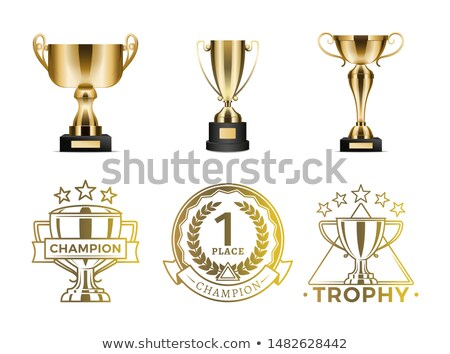 Photo stock: Or · gagnants · diplôme · brillant · spéciale