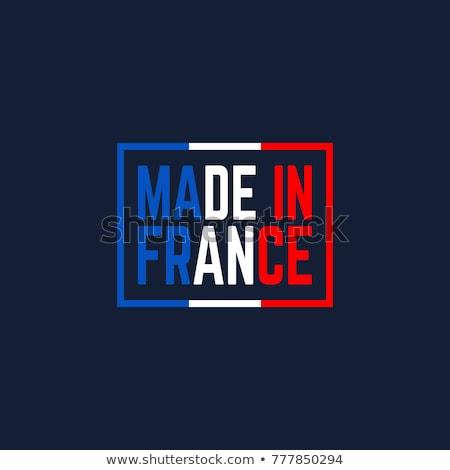 Franciaország · vidék · bélyeg · klasszikus · stílus · térkép - stock fotó © kurkalukas