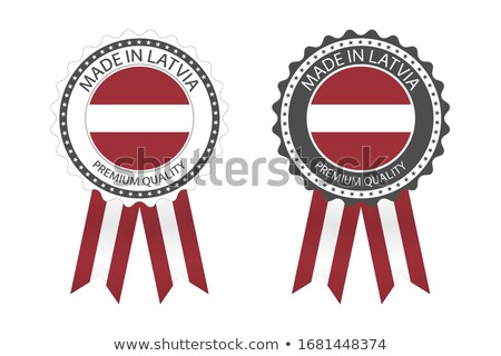 Modern vektör Letonya etiket yalıtılmış beyaz Stok fotoğraf © kurkalukas