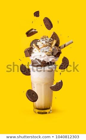 verre · jar · cookies · blanche · alimentaire · chocolat - photo stock © illia