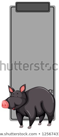 Black pig bookmark concept Stock photo © bluering