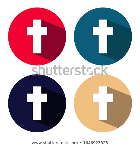Baptism flat icon with shadow on a white circle Stock photo © Imaagio
