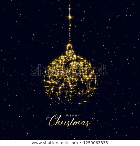Рождества мяча частицы фон зима Сток-фото © SArts