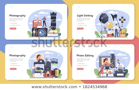 Fotógrafo profesión hobby web banners establecer Foto stock © robuart