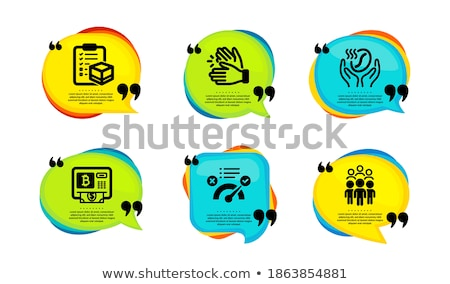 Blockchain Meetings Set Icons Vector Illustration Stock photo © robuart