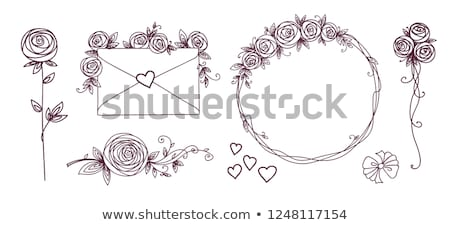 ayarlamak · dizayn · elemanları · çiçek · şube - stok fotoğraf © essl