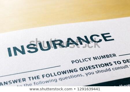 Vragenlijst toepassing vorm afbeelding selectieve aandacht Stockfoto © vinnstock
