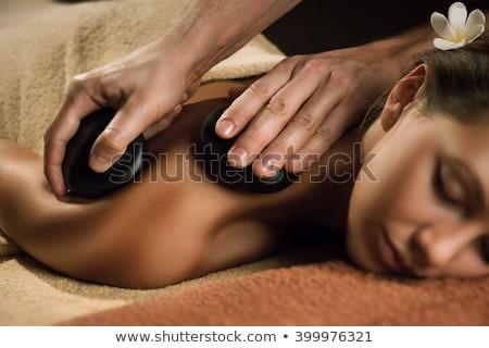 Spa массаж базальт камней оздоровительный воды Сток-фото © mythja