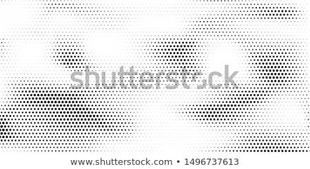 Stock photo: Halftone background with dirty grungy gradient of dots
