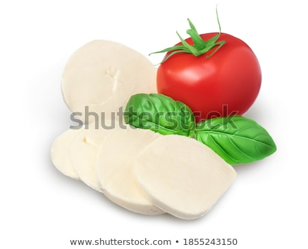 Mozzarella Cheese Slices Isolated On White Background Stock photo © ThreeArt