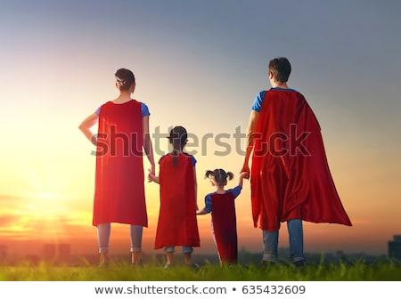 familie · kostuums · moeder · kinderen · spelen - stockfoto © choreograph