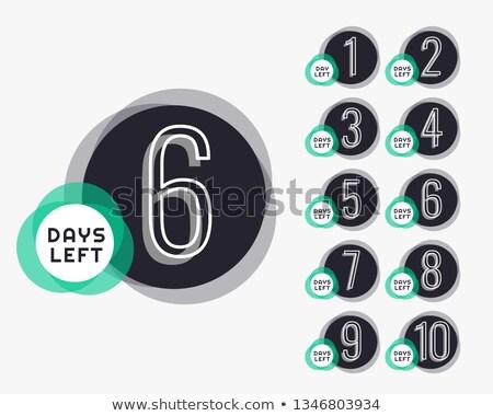 Conto alla rovescia timer banner business web tempo Foto d'archivio © SArts