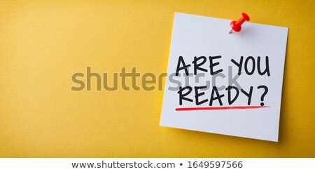 Nota pegajosa texto preparado escritório nota escrever Foto stock © Zerbor