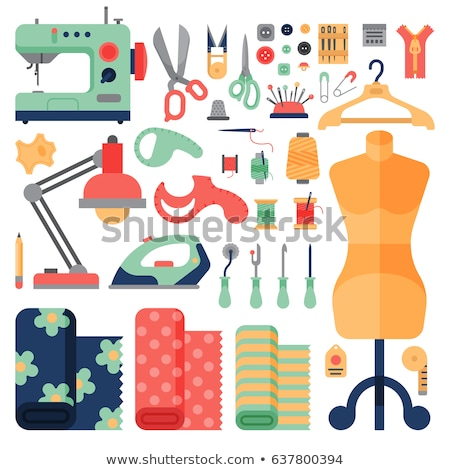 vector set of sewing accessories stock photo © olllikeballoon