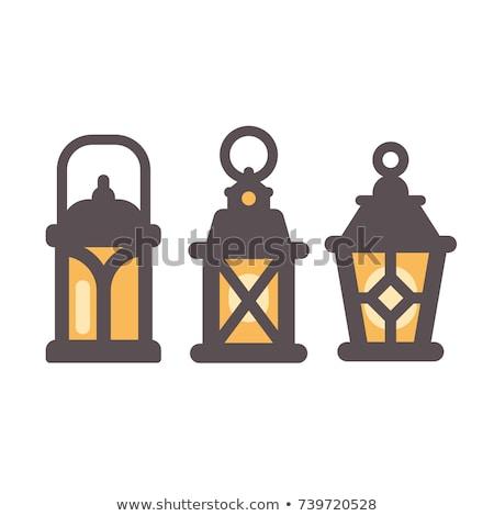 Garden lantern flat vector icon Stock photo © nosik