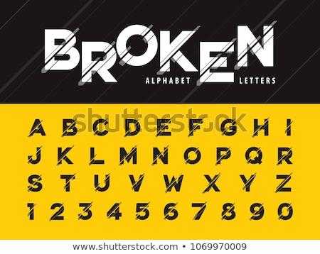 Roto alfabeto moderna cartas números estilizado Foto stock © Andrei_