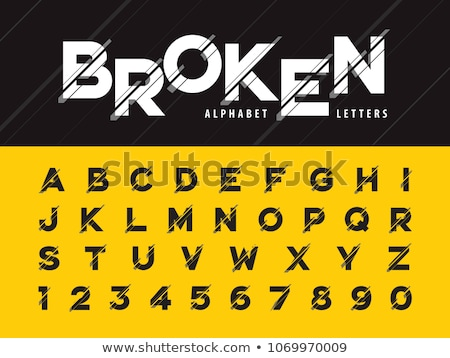 şablon · renkli · alfabe · hat · harfler - stok fotoğraf © andrei_