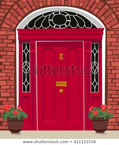 Vieux maison porte d'entrée bois porte Photo stock © boggy