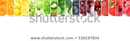 Collectie vers fruit helling natuur appel Stockfoto © cammep