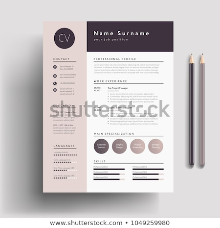 Minimalist resume cv template Stock photo © orson