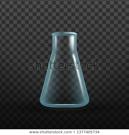 Realistic Chemical Bio Erlenmeyer Flask Vector Foto stock © pikepicture
