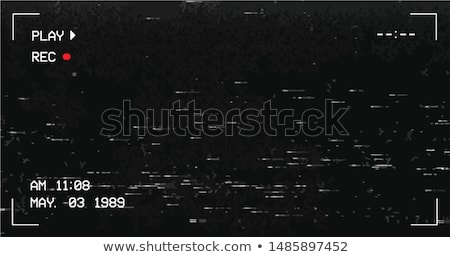TV Screen Defect, Glitch Art Vector Banner Stock photo © pikepicture