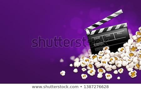 pipoca · on-line · filme · bandeira · filmes - foto stock © loopall