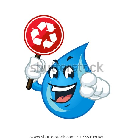 mascot smiley point board illustration stock photo © lenm