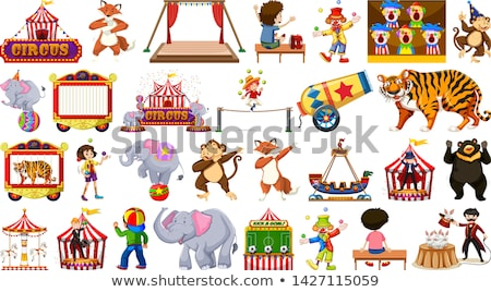 large circus themed set stock photo © bluering