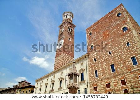 Torre dei Lamberti in Verona, Italy Stock photo © boggy