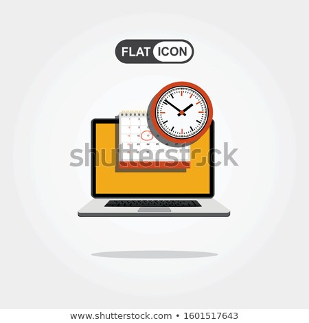 Línea web página organizador vector Foto stock © robuart