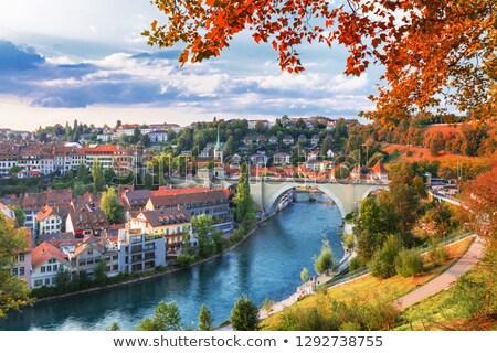 Cityscape Szwajcaria starówka widoku miasta panorama Zdjęcia stock © Winner