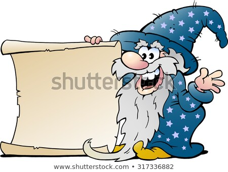 Wizard with Wand Cartoon Character Stock photo © Krisdog