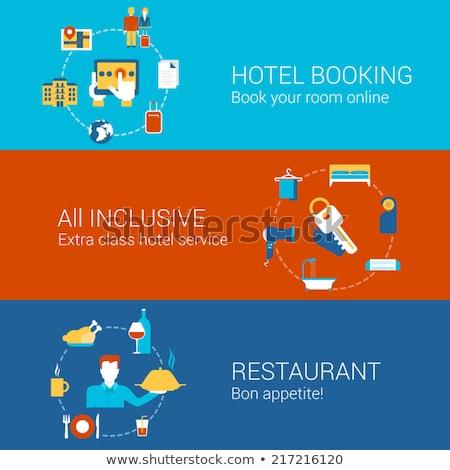 Hotel vacaciones paquete turísticos alojamiento Foto stock © RAStudio