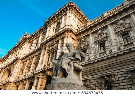 Bíróság Róma Olaszország külső égbolt épület Stock fotó © AndreyPopov