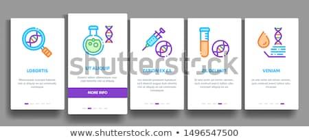 tudomány · genetika · ikonok · DNS · laboratórium · felszerlés - stock fotó © pikepicture